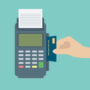 Hand Inserting Credit Card To A Pos Terminal Payment Terminal Flat Design Vector 64931018