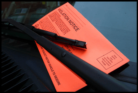 Host Merchant Services Image of a parking ticket