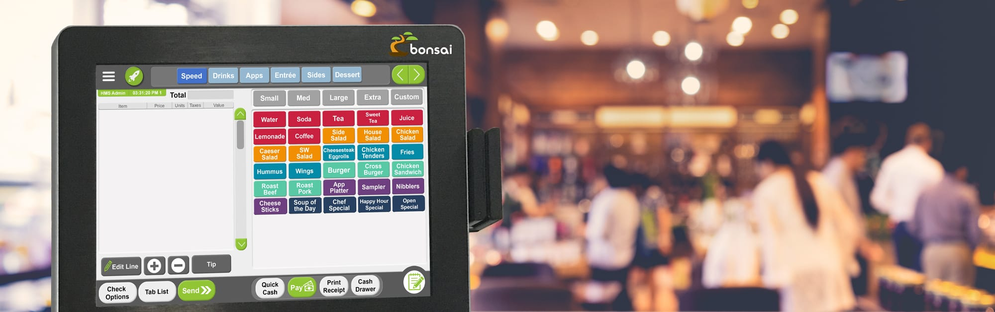 bonsai point of sale for restaurants