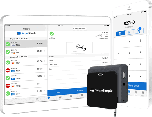 Swipesimple Tablet smartphone credit card swiper