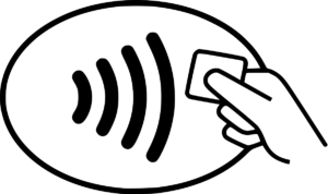 NFC contactless payments symbol