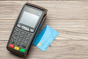 Payment Processing Credit card machine on a table