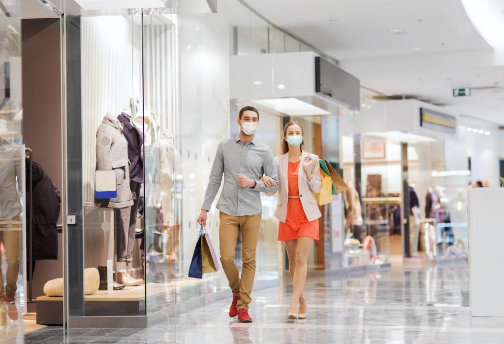 shoppers wear masks covid19 coronavirus - merchant services
