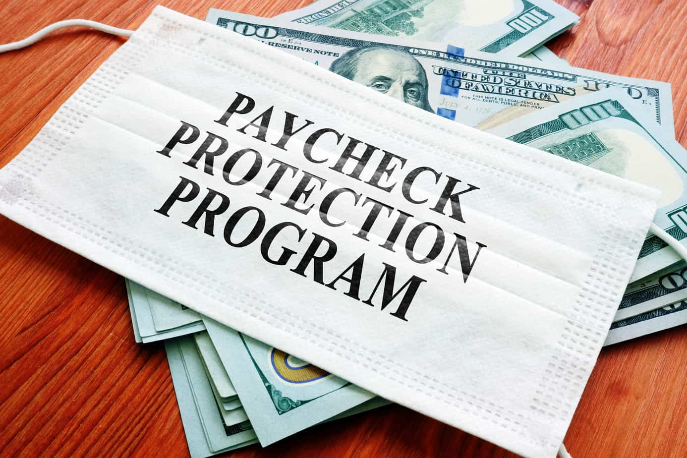ppp-paycheck-protection-program-as-sba-loan-written-on-the-mask-181147250