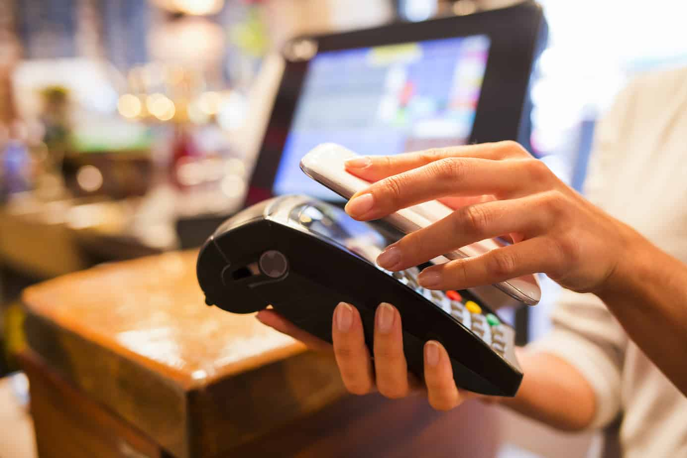 Many customers are using contactless payments with their smartphones.
