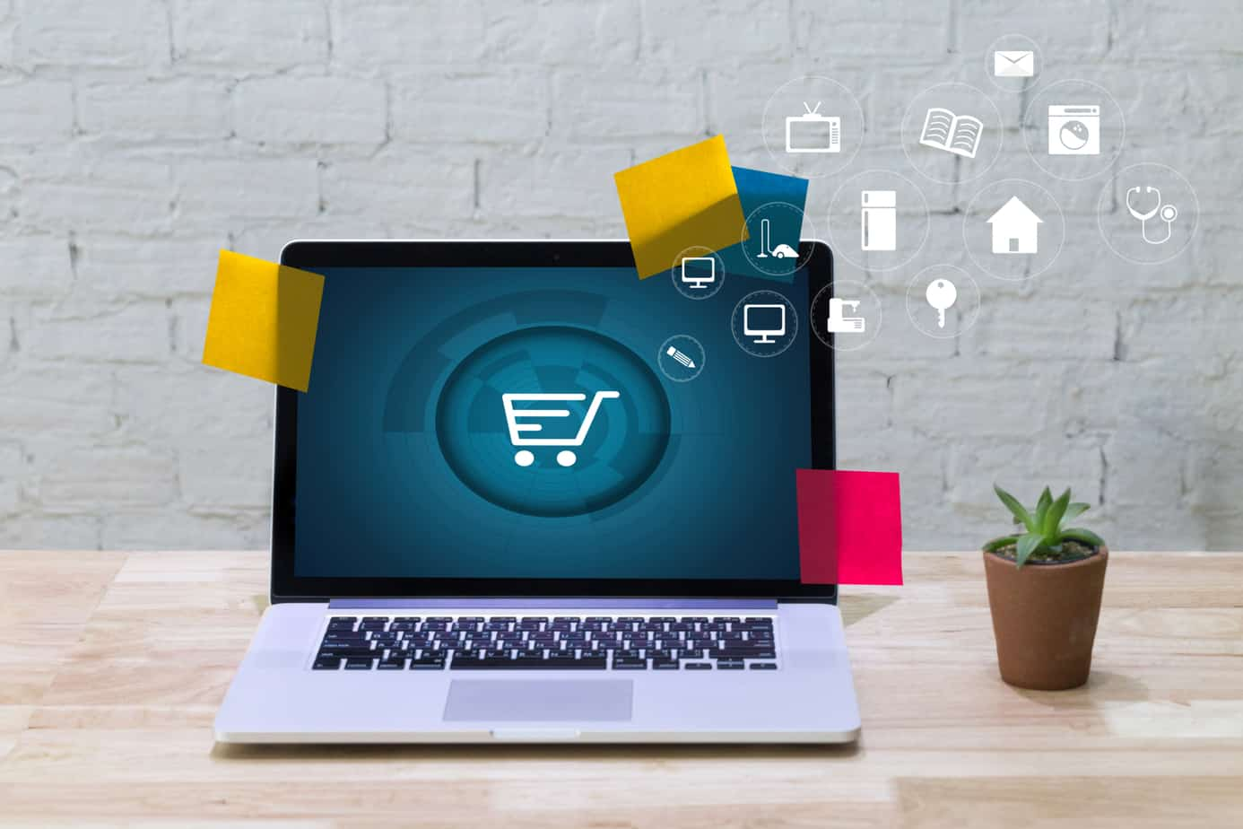 Business People Use Technology Ecommerce Internet Global Marketing Purchasing Plan And Bank Concept 97589476