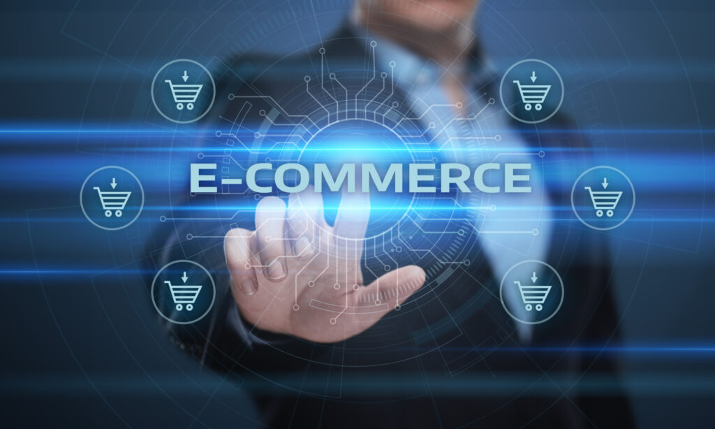 E Commerce Add To Cart Online Shopping Business Technology Internet Concept 101370909