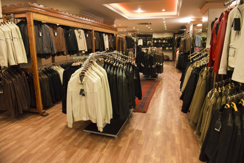 Leather Coats In A Retail Store Shop 26972495