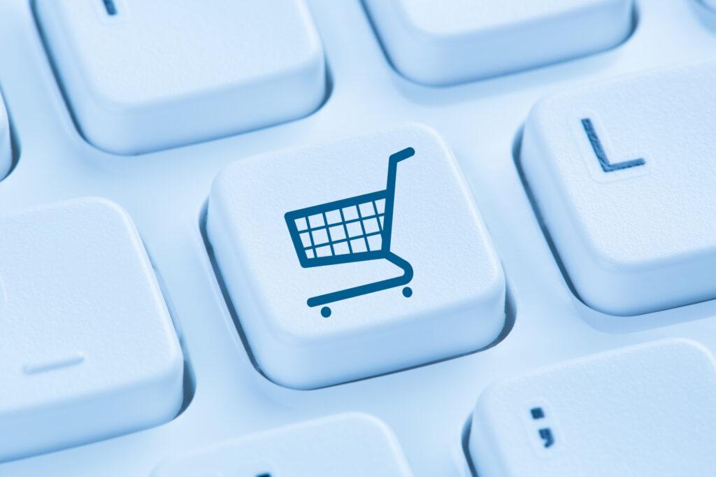 Online Shopping E Commerce Ecommerce Internet Shop Concept Blue 84742205 1