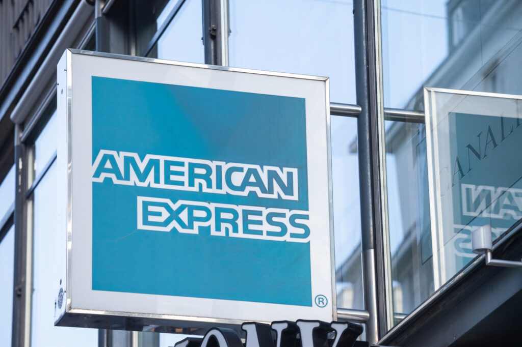 American Express Logo In Front Of Their Office For Vienna 166055336