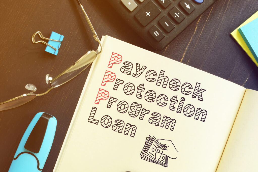 Paycheck Protection Program Ppp Loan Is Shown On The Business Photo 181186687