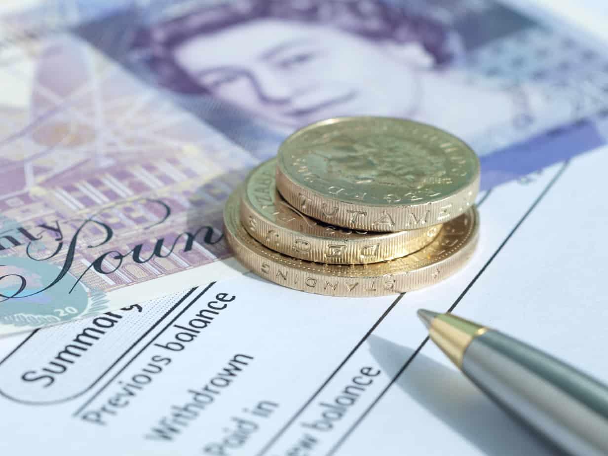 bank balance english money 14800439