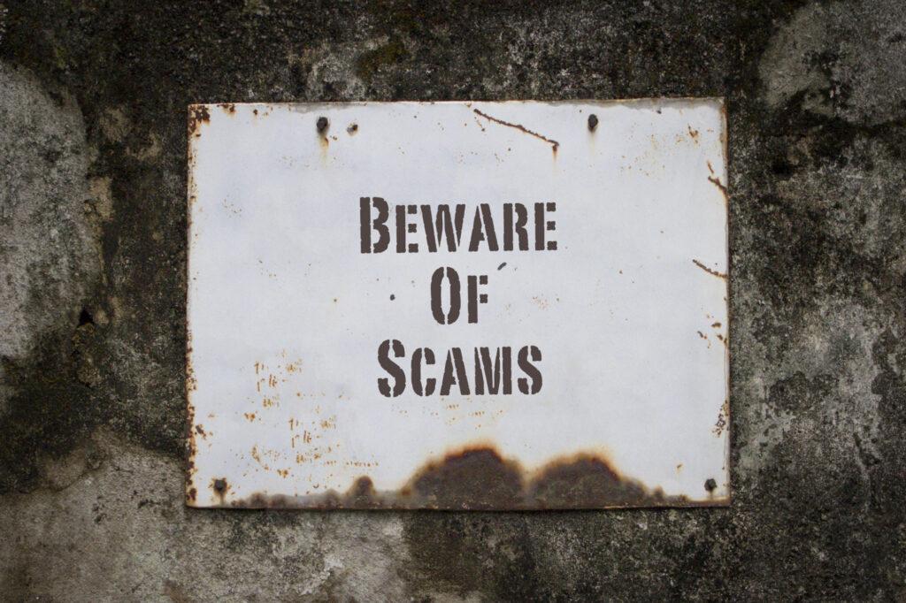 beware of scams 209135546