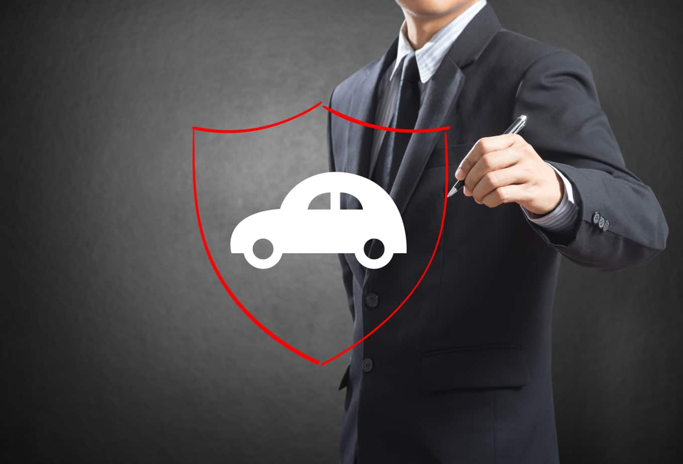 business man drawing shield protecting auto car 38984367