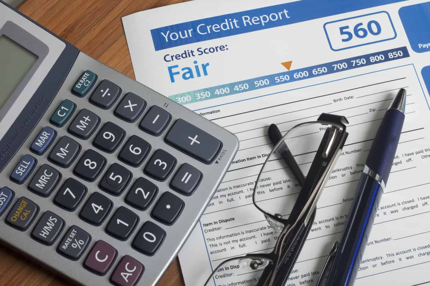 credit report with score 48916591