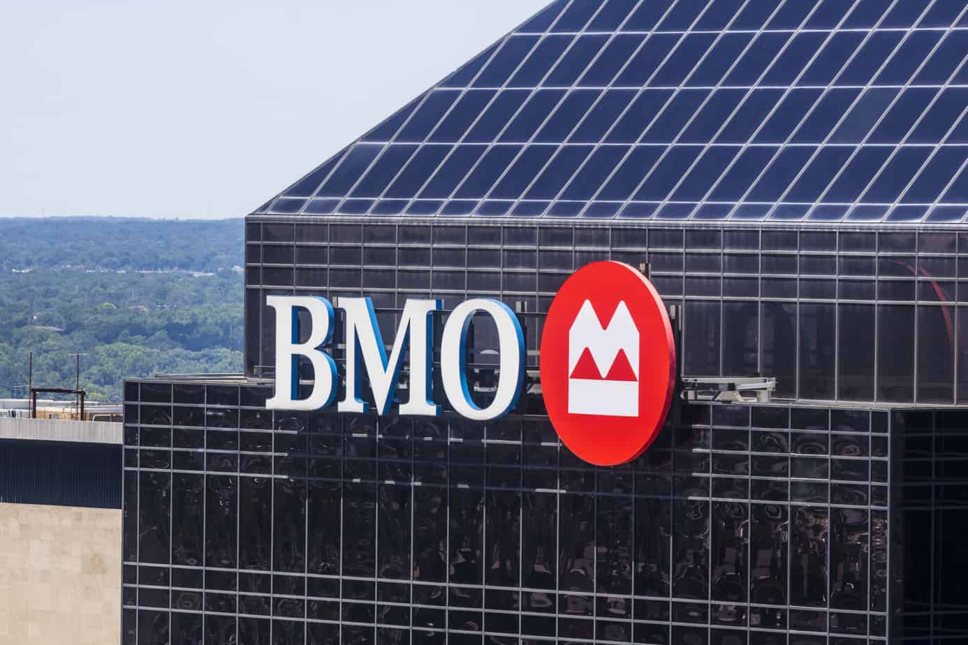 indianapolis circa june 2017 signage and logo of bmo harris bank bmo harris is one of the largest banks in the midwest v 94812482