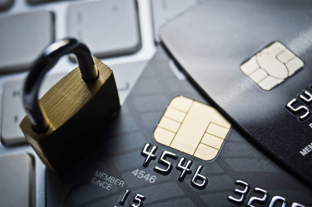 credit cards security concept 79076405