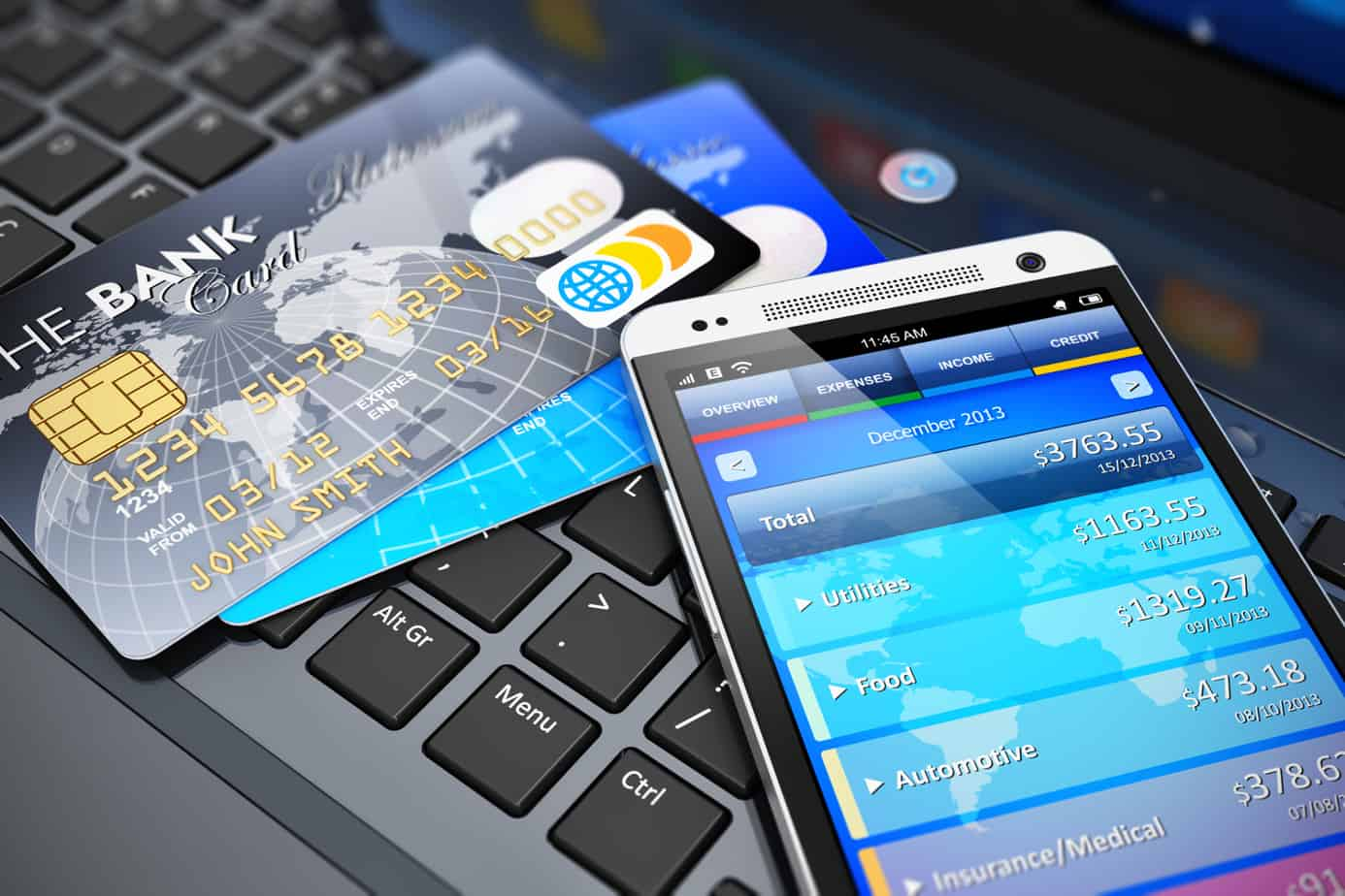 mobile banking and finance concept 35805226
