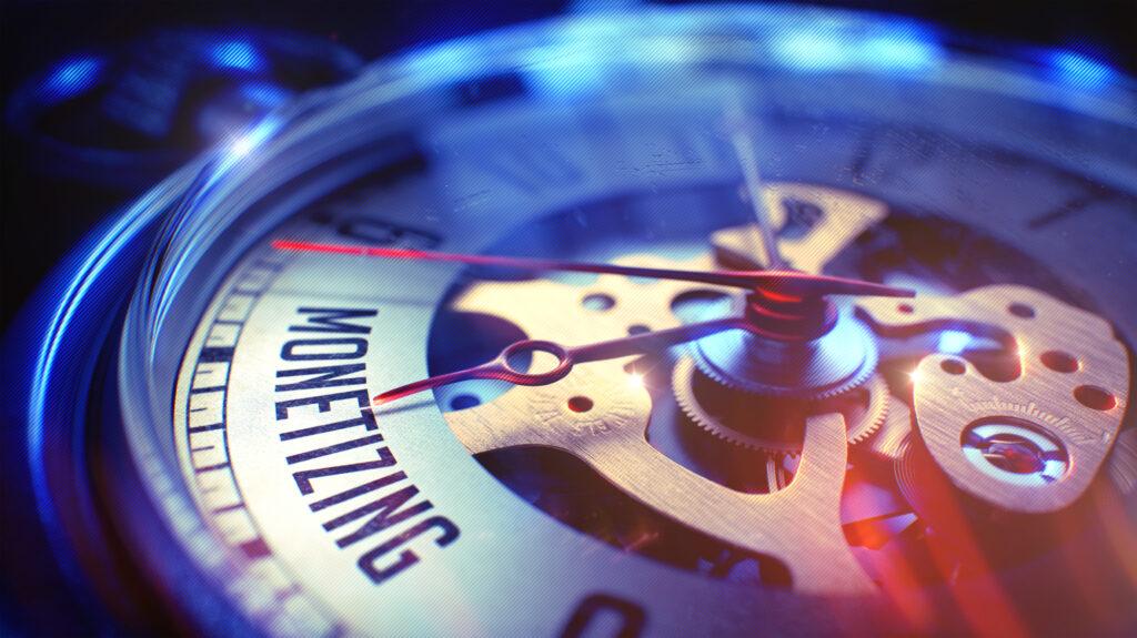 monetizing phrase on vintage watch 3d render 78724722