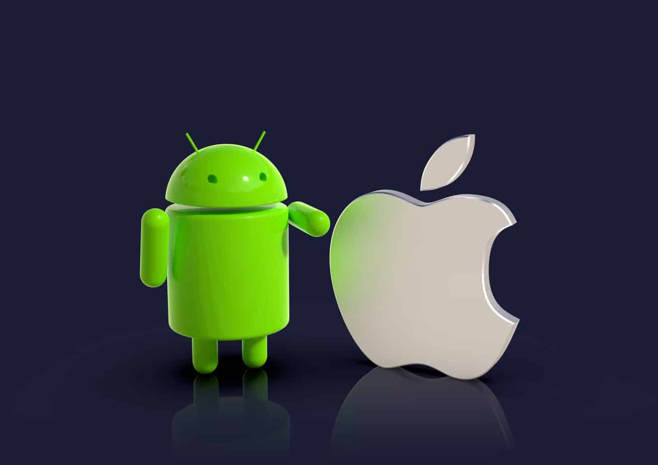 android vs apple ios compared logo characters 142484457
