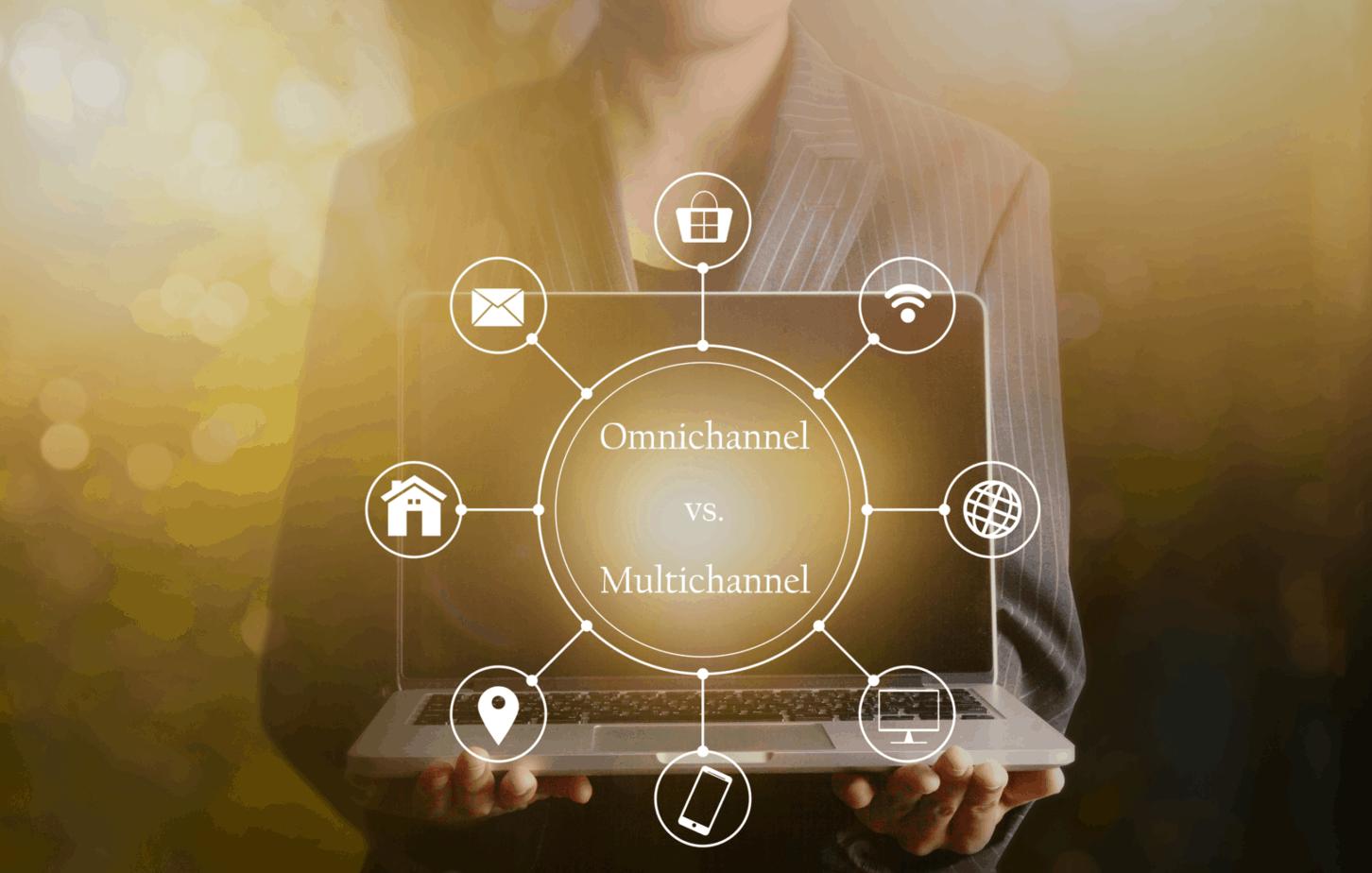 businessman holding laptop multichanel online communication network 93560601