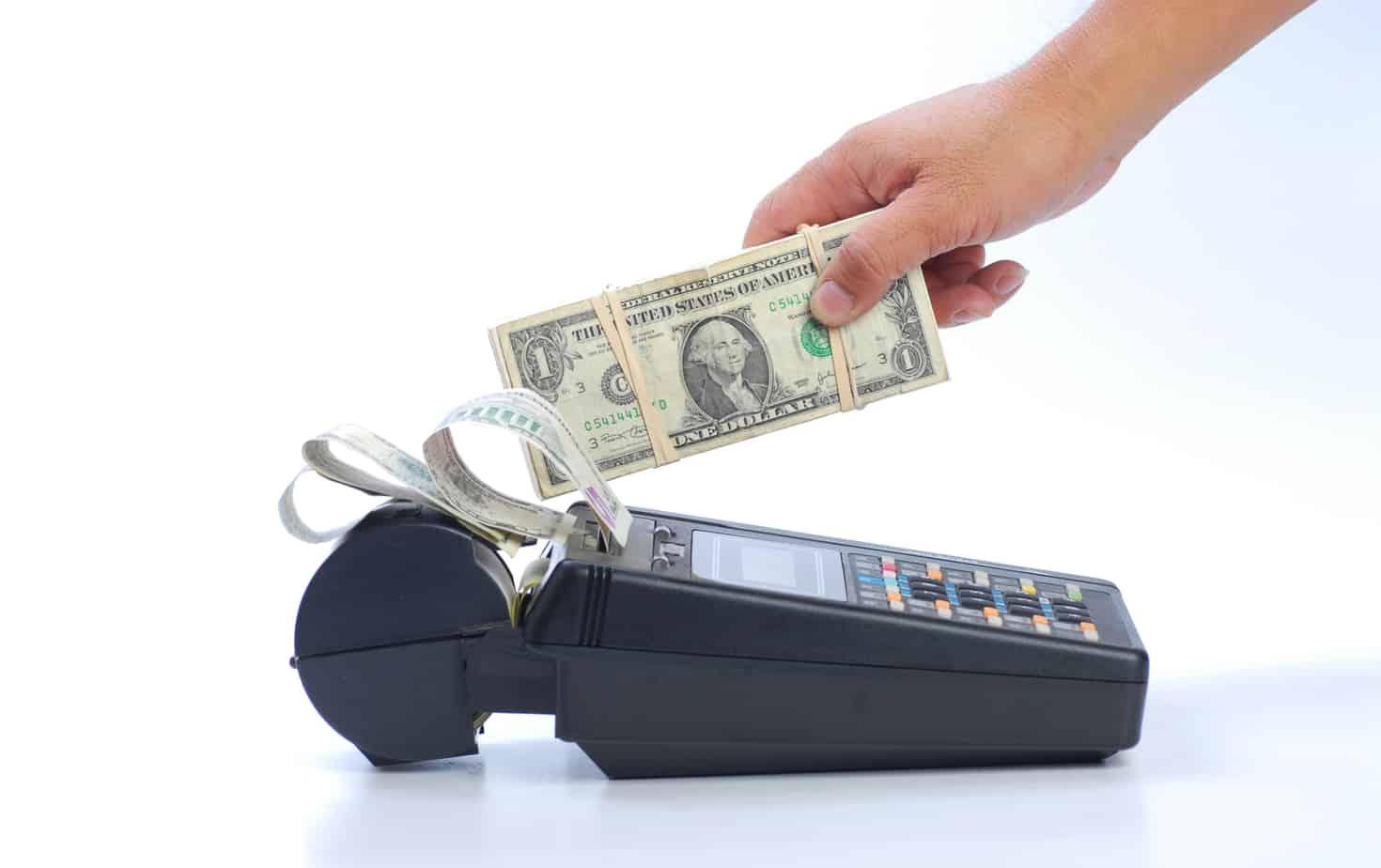 cash on credit card machine 16156434