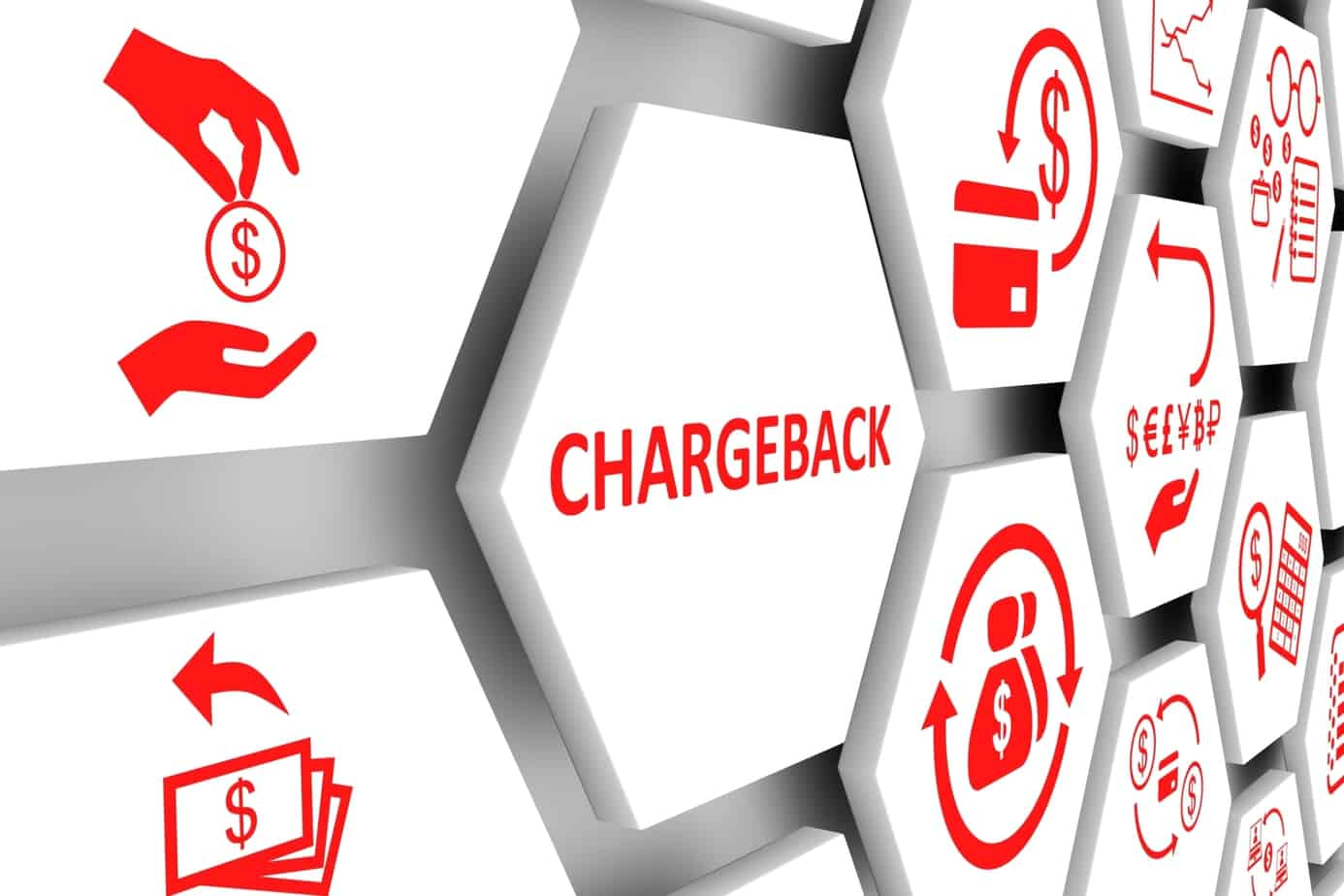 chargeback concept cell background 125138191