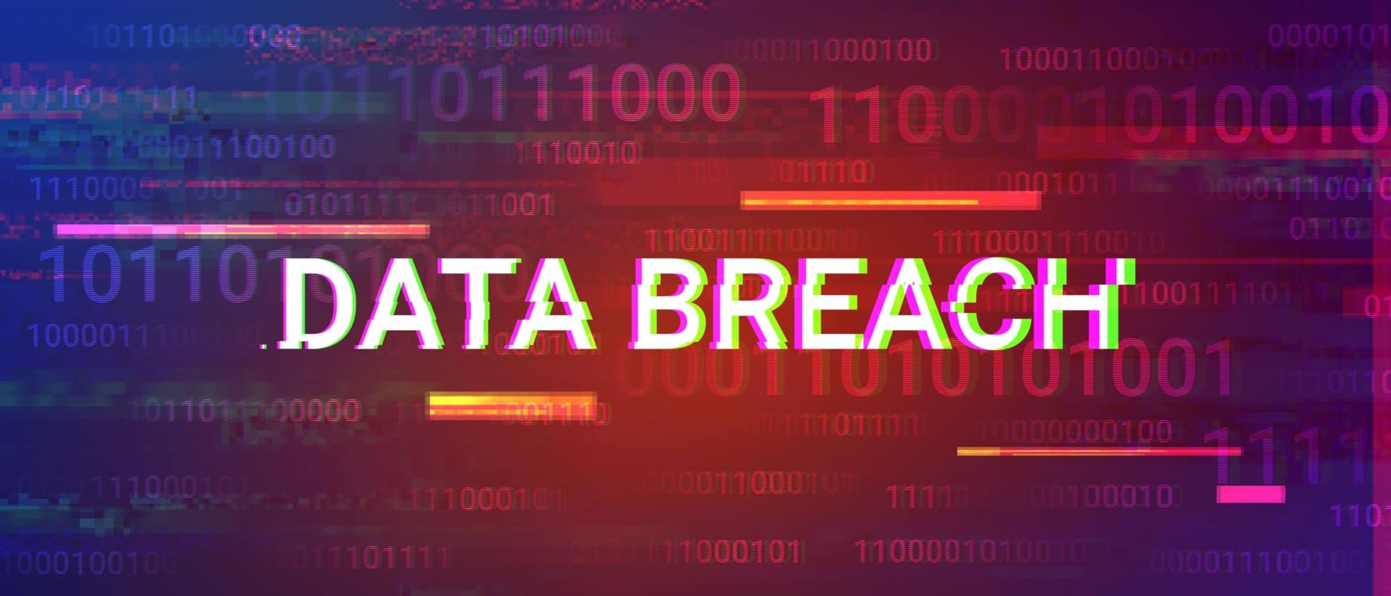 data breach glitchy words 187141456