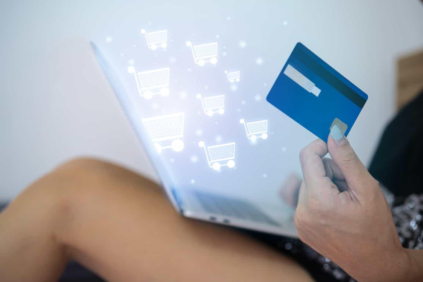 online shopping website on laptop easy e commerce website shop by laptop 195723616