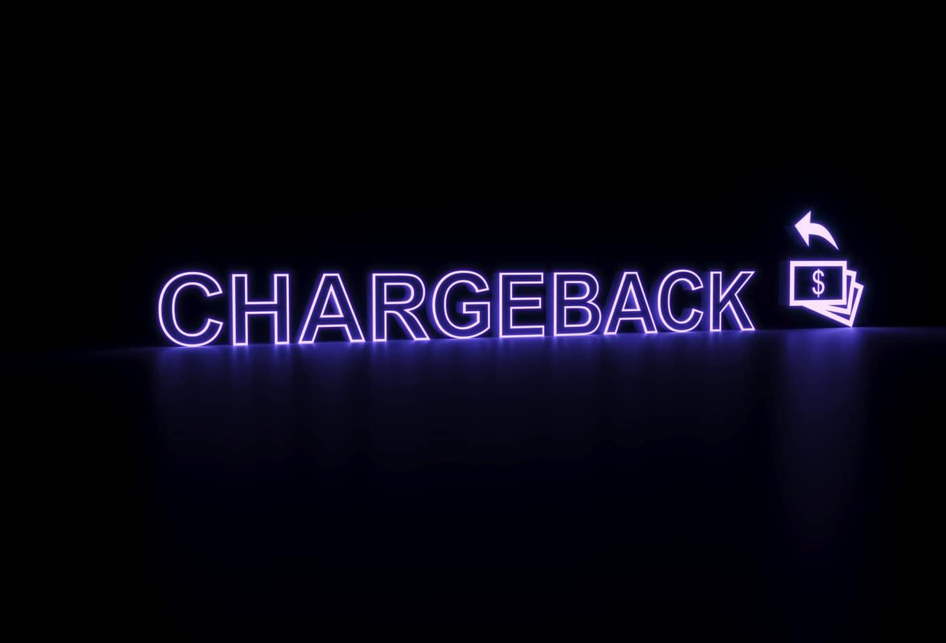chargeback neon concept self illumination background 178854354