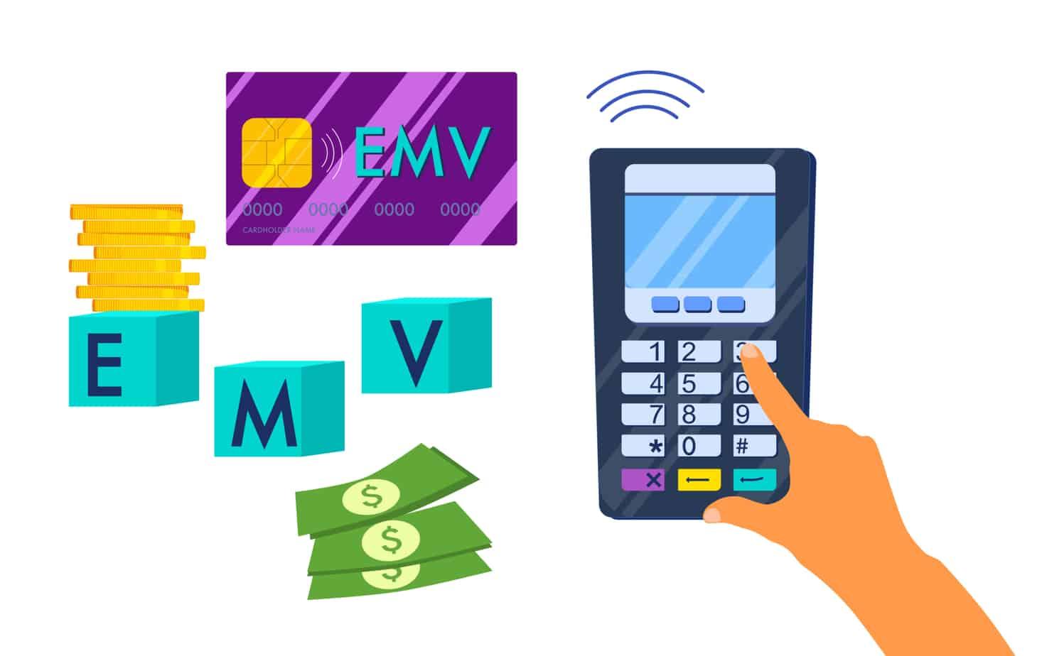 emv chip smart credit or debit card contactless payment method 190544834