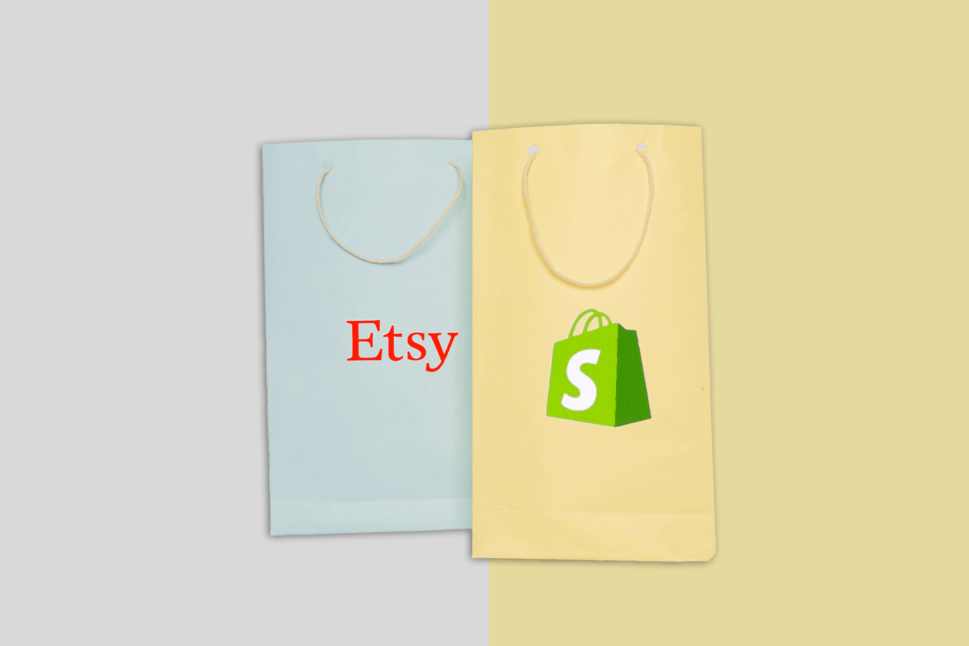 light blue and yellow color shopping paper bag on colorfull background 152247970