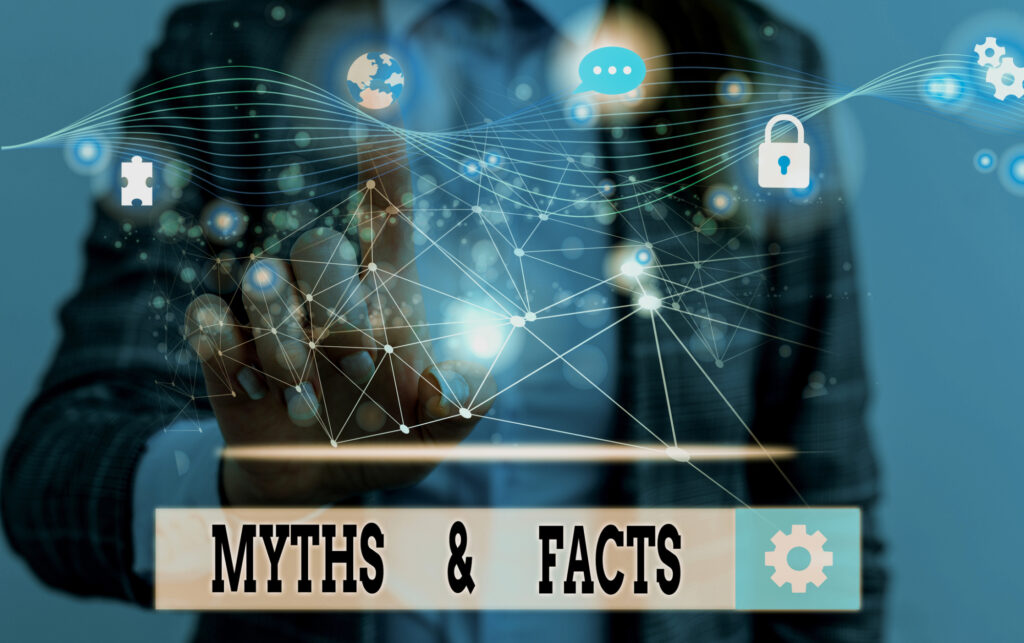 word writing text myths and facts business concept for usually traditional story of ostensibly historical events 162013834